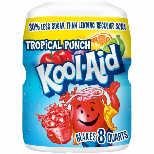 Kool-Aid Tropical Punch Powdered Drink Mix Perspective: front