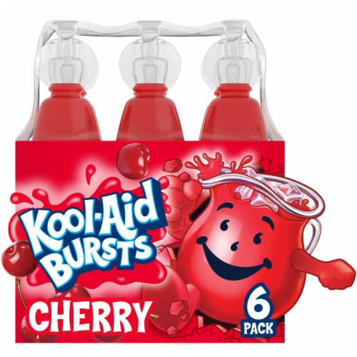 Kool-Aid Bursts Artificially Flavored Cherry Drinks Perspective: front