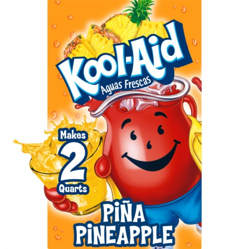 Kool-Aid Aguas Frescas Unsweetened Pina-Pineapple Powdered Drink Mix Perspective: front
