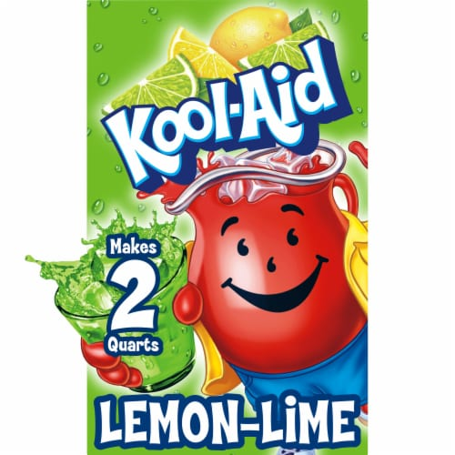 Kool-Aid Unsweetened Lemon Lime Powdered Drink Mix Perspective: front