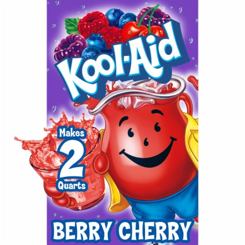 Kool-Aid Unsweetened Berry Cherry Powdered Drink Mix Perspective: front