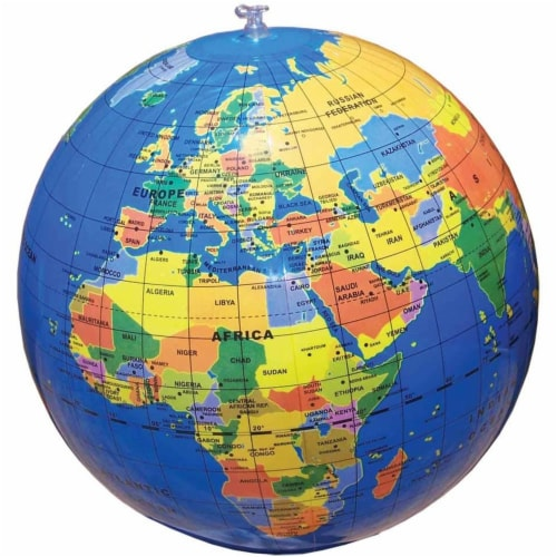 "12"" Inflatable Globe Perspective: front"
