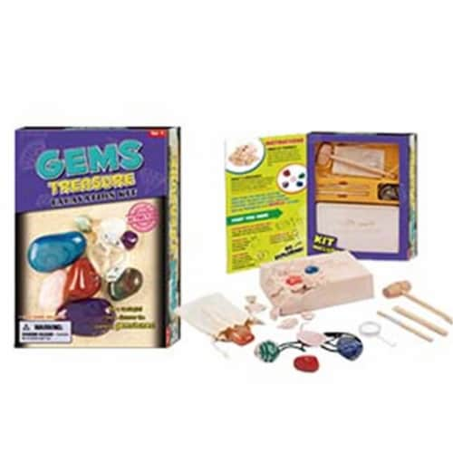 Tedco Toys Gems Treasure Dig Excavation Kit Perspective: front