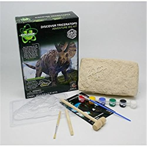 Tedco Toys 90101 Triceratops Discover Dig Kit Perspective: front