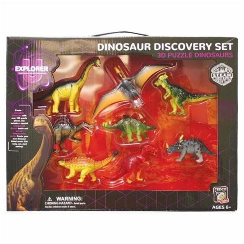 Dinosaur 3D Puzzle Set Perspective: front