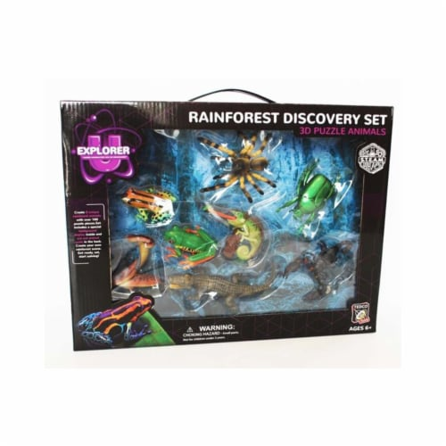 Tedco Rainforest Discovery Set, 3D Puzzle Animals Perspective: front
