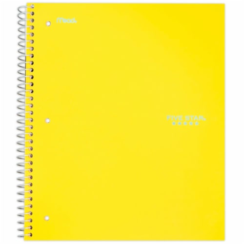 Five Star® College-Ruled 3-Subject Notebook - Assorted Perspective: front