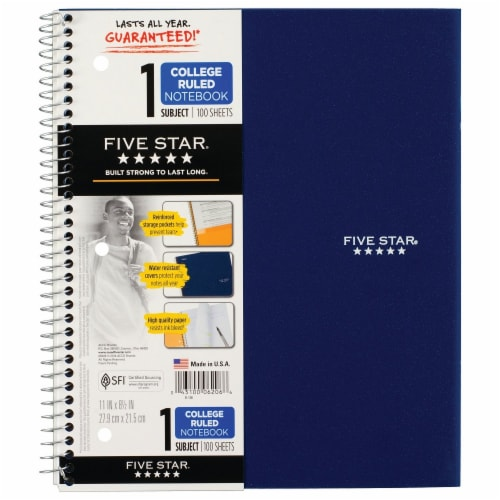 Five Star® College-Ruled 1-Subject Notebook - Assorted Perspective: front