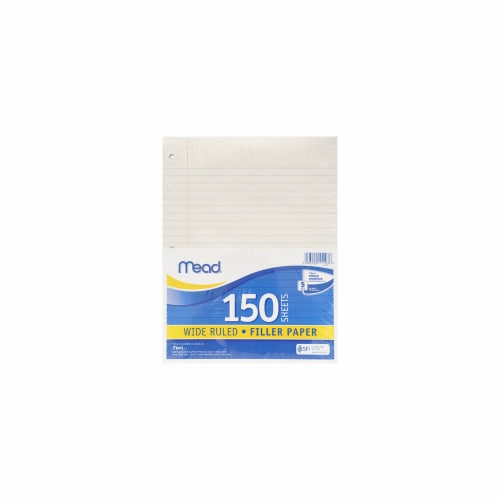 Mead® Wide Rule Filler Paper - 150 Sheets - White Perspective: front