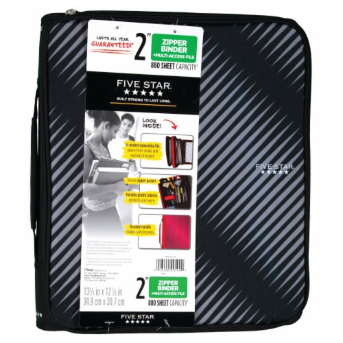 Five Star® Zipper Binder - Assorted Perspective: front