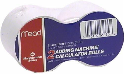 Mead® Adding Machine/Calculator Rolls Perspective: front