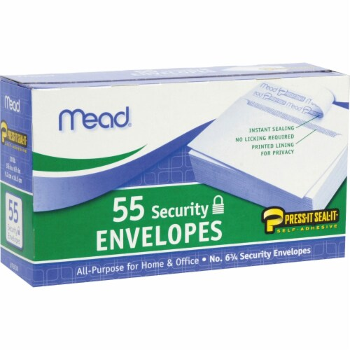 Mead® Press-It Seal-It® Security Envelopes Perspective: front