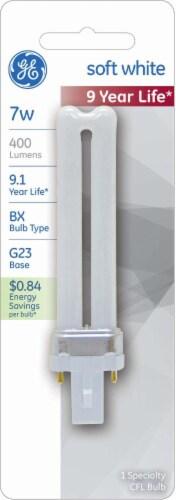 GE Soft White 7-Watt CFL Pin Light Bulb Perspective: front