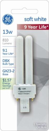 GE Soft White 13-Watt CFL Pin Light Bulb Perspective: front