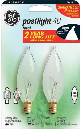GE Postlight 40-Watt Bent Tip Light Bulbs Perspective: front