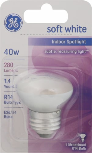 GE 40-Watt Medium Base Spotlight R14 Spotlight Bulb Perspective: front