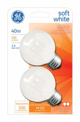 GE 40-Watt Soft White Medium Base Globe Light Bulbs Perspective: front