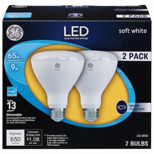 GE 10-Watt (65-Watt) BR30 LED Indoor Floodlight Bulbs Perspective: front