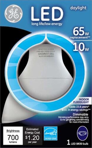 GE 10-Watt (65-Watt) Medium Base BR30 Indoor LED Floodlight Light Bulb Perspective: front