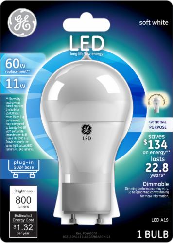 GE 11-Watt (60-Watt) GU24 Base A19 LED Light Bulb Perspective: front
