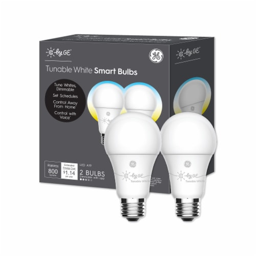 GE A19 LED Tunable Smart Bulbs - White Perspective: front