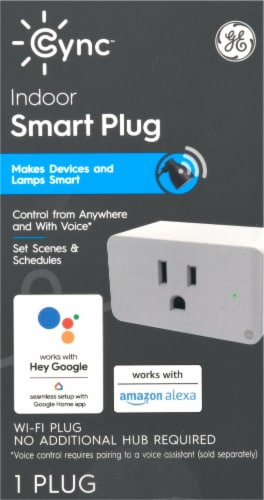 C by GE On/Off Smart Plug Perspective: front