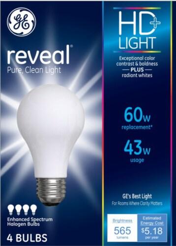 GE Reveal Enhanced Spectrum Halogen Light Bulbs Perspective: front