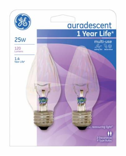GE 25-Watt Medium Base Decorative Ceiling Fan Flame Tip FM Light Bulbs Perspective: front