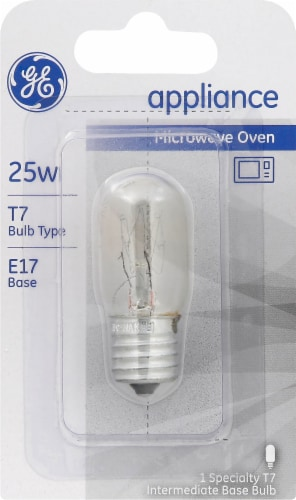 GE 25-Watt E17 T7 Microwave Oven Light Bulb Perspective: front