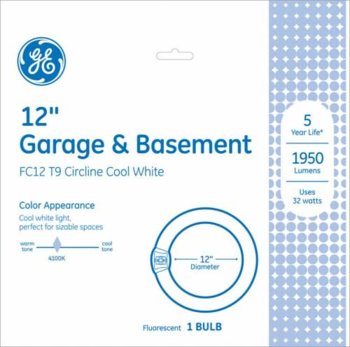 GE Garage & Basement 32-Watt FC12 T9 Circline Fluorescent Light Bulb Perspective: front