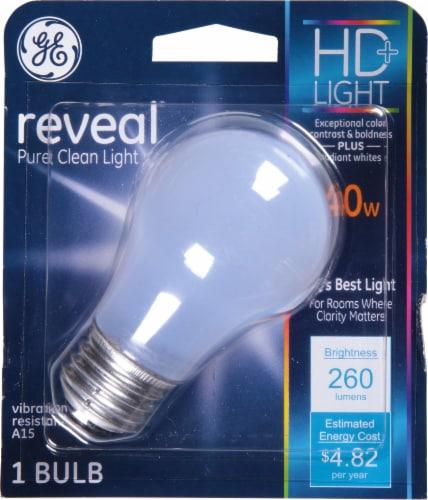 GE 40-Watt Medium Base A15 LED Incandescent Light Blulb Perspective: front
