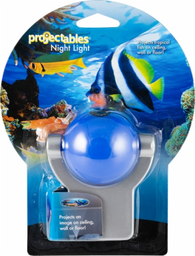 Projectables Tropical Fish LED Night Light - White Perspective: front