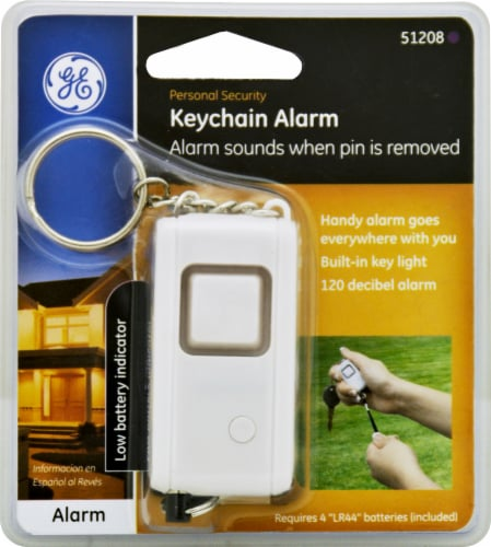 GE Keychain Alarm - White Perspective: front