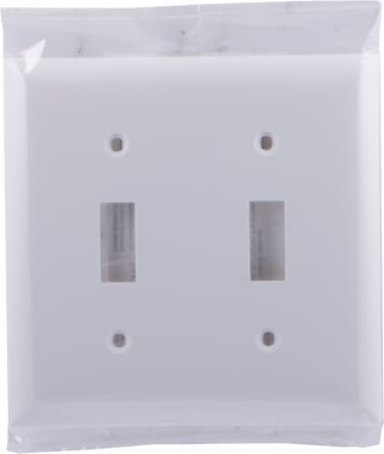 GE 54395 Double Switch Wall Plate Perspective: front