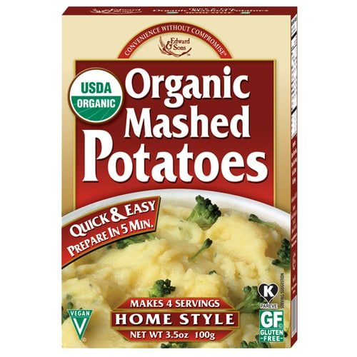 Edward & Sons Organic Mashed Potatoes Perspective: front