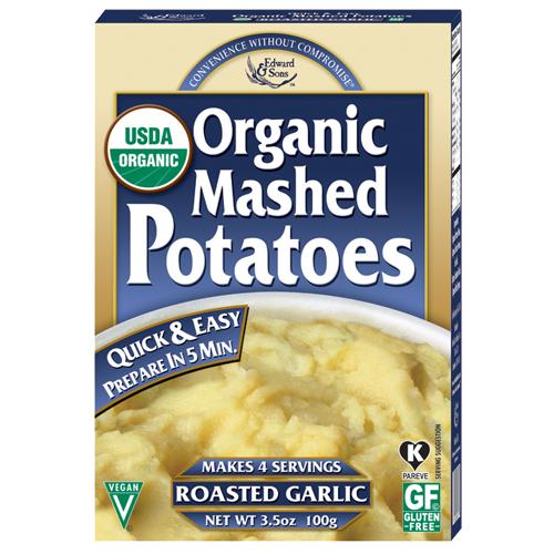 Edward & Sons Organic Roasted Garlic Mashed Potatoes Perspective: front