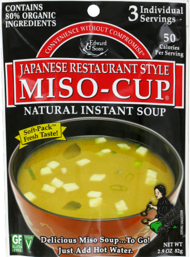 Edward & Son Miso-Cup Instant Soup 3 Count Perspective: front