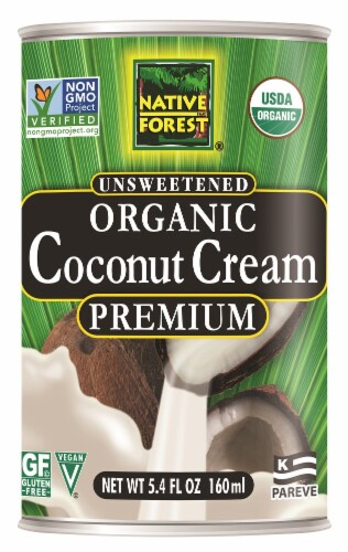 Native Forest Unsweetened Organic  Coconut Cream Perspective: front