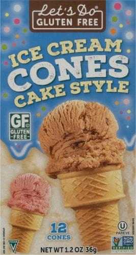 Let's Do Organic Gluten Free Ice Cream Cones Perspective: front