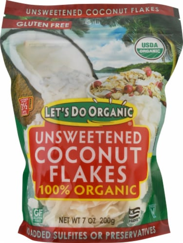 Let's Do Organic 100% Organic Coconut Flakes Perspective: front