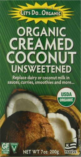 Let's Do Organic Cream Coconut Unsweetened Milk Perspective: front