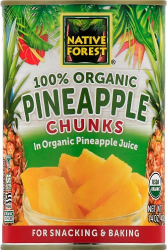 Native Forest Organic Pineapple Chunks Perspective: front