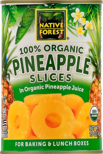 Native Forest Organic Pineapple Slices Perspective: front
