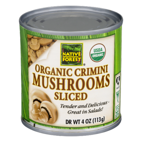 Native Forest Organic Sliced Crimini Mushrooms Perspective: front