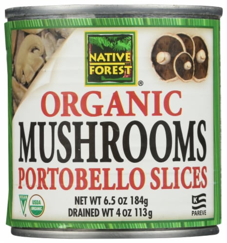 Native Forest Organic Portobello Mushroom Slices Perspective: front