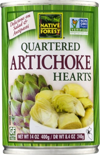 Native Forest Quartered Artichoke Hearts Perspective: front