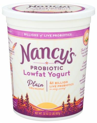 Nancy's Lowfat Plain Yogurt Perspective: front