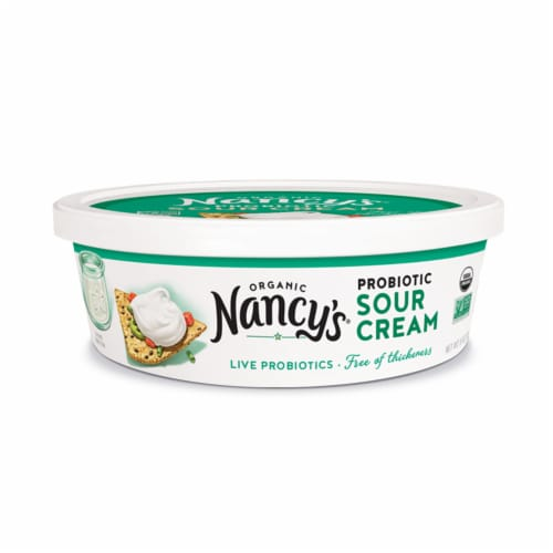 Nancy's Organic Probiotic Sour Cream Perspective: front