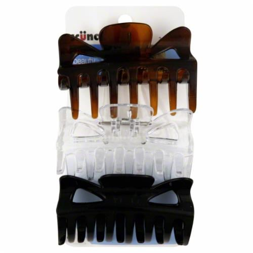 Scunci Effortless Beauty Jaw Clips Multipack Perspective: front