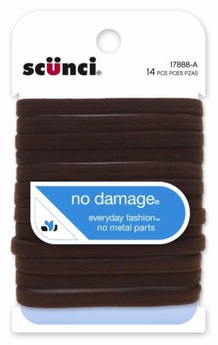 Scunci 6mm No Damage Flat Age Brown Elastics Perspective: front